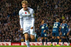 Back on track|: Patrick Bamford celebrates his penalty.  Picture: Bruce Rollinson