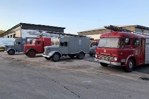 Some of the museum's collection of vintage emergency vehicles