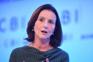 Director-General of the CBI, Dame Carolyn Fairbairn speaking at the CBI annual conference at the InterContinental Hotel in London. Photo: Stefan Rousseau/PA Wire