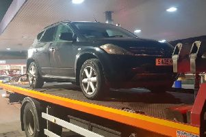 The car which was seized. Photo: West Yorkshire Police