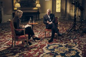 The Dukr of York during his interview with Emily Maitlis.