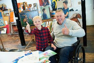 """Grandad Wheels - Brian Abram has written his series to """"help children understand that people in wheelchairs are just like everyone else and can still achieve things and enjoy life, by getting them to laugh at the daft things this grandad get up to.""""''Picture: johnhoulihan.com"""