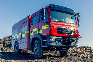 One of the fire engines that the firm will supply.