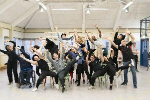 The cast of Guys and Dolls