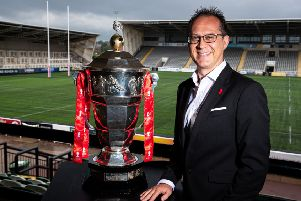 Jon Dutton is aiming to deliver the 'biggest and best-ever' Rugby League World Cup in 2021. PIC: Alex Whitehead/SWpix.com.