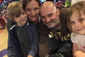 Lisa and Jean-Christophe Verro with their two children Oliver, 7 and Charlotte 5, are fundraising for life-changing MS treatment. Photo provided by family.