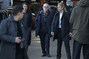 Labour leader Jeremy Corbyn campaigns in London. Pic: PA