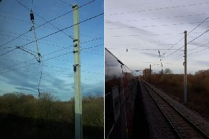Damaged overhead wires near York caused major disruption to LNER services yesterday (Photos: LNER)