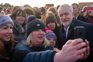 Labour leader Jeremy Corbyn on the campaign trail in Yorkshire.
