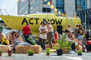 Extinction Rebellion activists in Leeds earlier this year.
