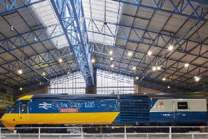 A High Speed Train in 1970s British Rail livery has already gone on display at the National Railway Museum in York - now another will go on a farewell tour of the East Coast Main Line