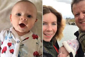 Paul Addison's daughter Georgina has her hearing aid turned on every morning - and her reaction has delighted those on social media. Credit: Paul Addison/PA