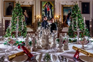 Yorkshire-based mixed media artists Davy and Kristin McGuire, right, have created an intricate and elaborate visual and audio display to enchant visitors to Harewood House this Christmas. (James Hardisty).