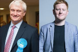 Graham Stuart (right) was the best Yorkshire MP according to the People-Power Index, while Jared O'Mara was in the bottom five nationally.