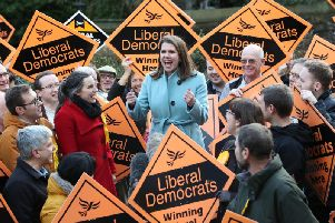 Liberal Democrat Leader Jo Swinson meets supports during a visit to Sheffield, while on the General Election campaign (Photo: Danny Lawson / PA Wire).