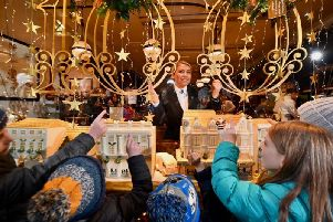 The 2019 Bettys display. - the festive window display has become hugely popular.