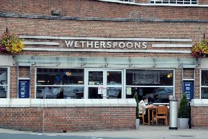 Wetherspoons at Leeds Station.