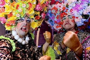 Ugly Sisters Phil Beck and Dale Ibbetson in Scarborough Spas Cinderella.