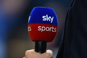 How many times has each Championship club appeared on Sky Sports so far this season?
