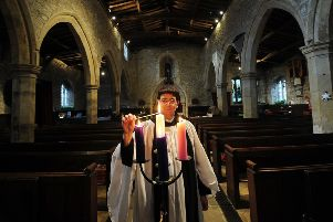 Rev Caroline Hewlett, pictured at St Andrews Church, Grinton. Picture by Simon Hulme