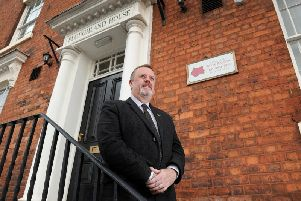 Mark Burns-Williamson at the office of the Police and Crime Commissioner for West Yorkshire, in Wakefield.