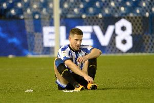 FRUSTRATION: Sheffield Wednesday's Sam Hutchinson shows his disappointment at the final whistle. Picture: Steve Ellis