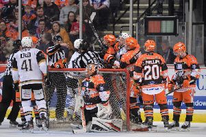 Sheffield Steelers v Nottingham Panthers - its a festive tradition thing. Picture courtesy of Dean Woolley/EIHL.