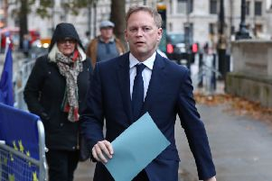 Transport Secretary Grant Shapps arriving at the Cabinet Office in London. Photo: Gareth Fuller/PA Wire