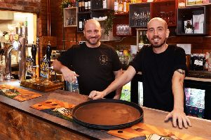 V or V Restaurant,Wharncliffe Works,Green Lane,Kelham Island,Sheffield.Pictured owners Matt and Nick Burgess(left)  Pic Steve Ellis