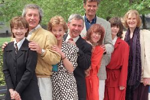 Christopher Beeny (fourth from left, with cast of Upstairs Downstairs) has passed away aged 78, his family have announced