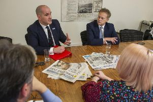 Northern Powerhouse Minister Jake Berry and Transport Secretary Grant Shapps at the Yorkshire Post's offices.