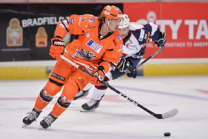 INJURY DOUBT: Sheffield Steelers' Marc-Olivier Vallerand. Picture: Dean Woolley.
