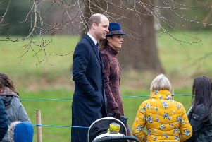 The Duke and Duchess of Cambridge arrive to attend a morning church service at St Mary Magdalene Church in Sandringham, Norfolk earlier this month. Picture: Joe Giddens/PA Wire