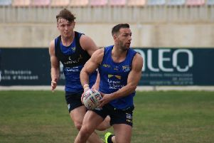 Luke Gale, in action during Leeds Rhinos' warm weather training camp in Spain earlier this week. Picture courtesy of Leeds Rhinos.