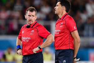 Nigel Owens, left, is the world's leading rugby union referee