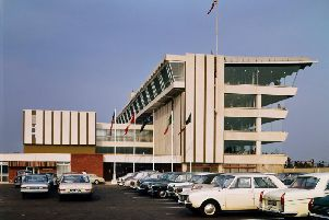 Doncaster Racecourse's new grandstand in 1969