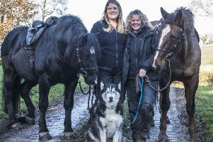 The two women and two horses walking 500 miles for autism and mental health overcome set back