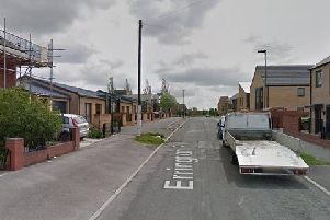 """The boy, who was shot in the left thigh,was standing outside shops in Northern Avenue in Arbourthorne at around 3.45pm on Sunday, and was """"an entirely innocent bystander"""" police have said."""