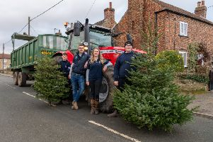 Christmas Tree collection by Boroughbridge Young Farmers Club around local villages.