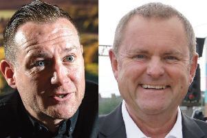 Sir Gary Verity (right) and james Mason - the past and present chief executives of Welcome to Yorkshire.