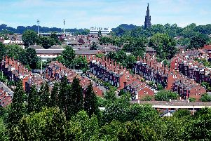 Terraced houses in Leeds, where rental costs have risen by 4.4% over the past year