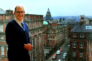Edward Ziff, chairman and chief executive of Town Centre Securities at his office in the Merrion Centre, Leeds.