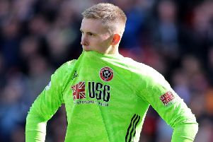 Dean Henderson, pictured after his mistake against Liverpool earlier this season. The keeper has produced an outstanding response since. PICTURE: SPORTIMAGE.