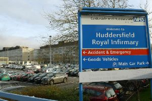 The man was admitted to Huddersfield Royal Infirmary with a twisted bowel. Pic: Gary Longbottom