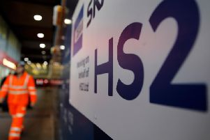 HS2 work in London. 8bn has already been spent on the scheme - Getty Images