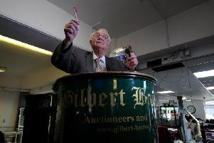 Yorkshire's oldest auctioneer Michael Baitson Picture Simon Hulme
