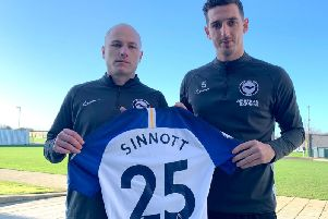 Brighton & Hove Albion are among clubs donating shirts in memory of Jordan Sinnott, who died at the weekend. Pictured left is Aaron Mooy, on loan to the club from Huddersfield Town where Mr Sinnott started his career.