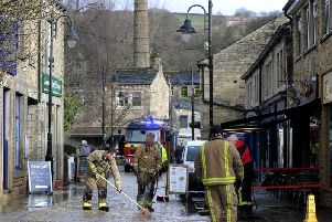 The flooding aftermath in Hebden Bridge after Storm Ciara. Picture by Simon Hulme