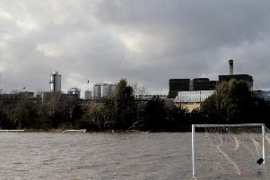 Flooded youth pitches at Tadcaster Albion's ground