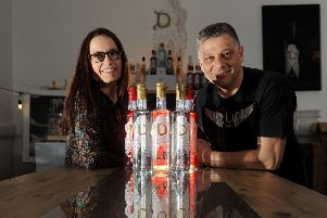 Divine Gin at New Mill in Holmfirth. Ray and Rachel Woolhead pictured on February 24. Picture: Simon Hulme